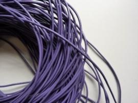 5 meter echt leren veter lila van 2 mm. dik - AA kwaliteit - SUPERLAGE PRIJS!