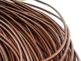 3 meter rundleren veter van 4mm dik bruin - super A-kwaliteit, soepel en goed geverfd