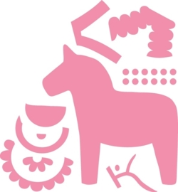 CE115638/1371- Marianne Design collectables Eline's dala horse