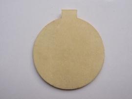 005998.L- houten kerstornament kerstbal van ca. 6.5cm -006888/2413