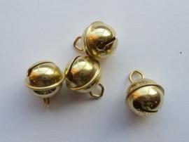 8605 696 - 4 stuks kattenbelletjes 17mm goudkleur - hard rinkel geluid AA