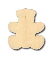 9144-26VA- houten beertje van 9cm hoog en 3mm dik