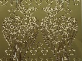 135- kerstafbeelding goud 10x20cm