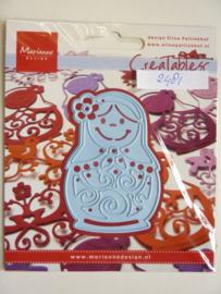 0002481- Marianne Design Creatables stencil nr.171 matroesjka 7.5x5cm OPRUIMING