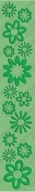 1856 6701- cuttlebug embossing stencil border `botanicals`  30.5cm