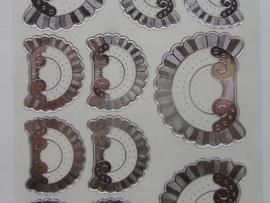 st566- borduursticker ornament zilver