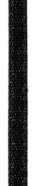 006302/0261- 4.5 meter satijnlint van 10mm breed op een rol zwart