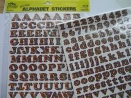 5550- K&Co 2 x A4 formaat stickervellen met letters bont