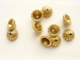 CH.9305- 10 stuks zwaar metalen kralenkapjes van 10.5mm antiek goudkleur
