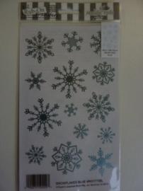 005006.B- Rub-on transfer snowflakes zilver 24x14cm OPRUIMING