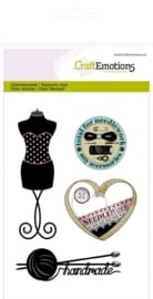 CE130501/1116- clearstamps A6 couture paspop