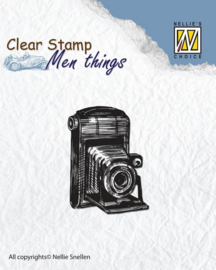 CE130510/2801- Nellie's Choice clearstamp - men things camera 40x30mm