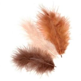 006619/0958- 15 stuks verenmix maraboe bruin van 10cm
