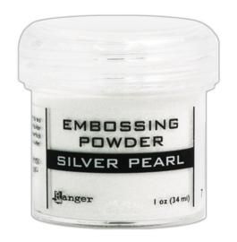CE306320/7514- Ranger embossing powder 34ml - silver pearl