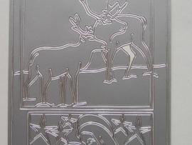 155- afbeelding divers zilver 10x20cm