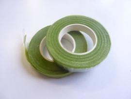 1 rol ouderwetse topkwaliteit bloemencrepeband licht groen van 13mm breed