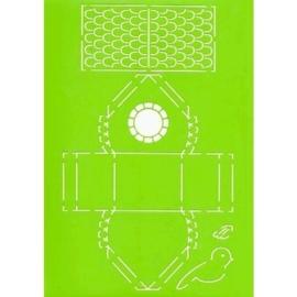 JOY6002/0708- Joy! crafts A4 formaat template doosje vogelhuisje