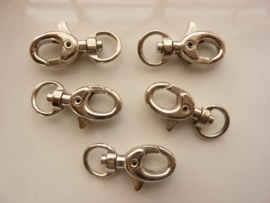 CH.546.Y- 5 stuks kleine sleutelclips / sluitingen 31mm