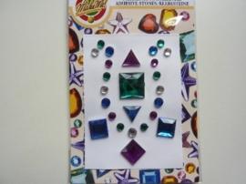 00261- zelfklevende strass steentjes (zijn ook los per stuk te gebruiken) OPRUIMING