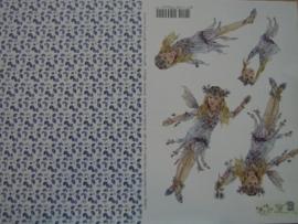 kn/109- A4 knipvel AANBIEDING fairy poppets 7