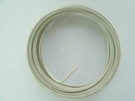DH460102/160- 5 meter aluminiumdraad (wire&wire) 2mm dik gebroken wit