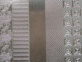 st 463HT- 3 soorten randjes met hoekjes zilver