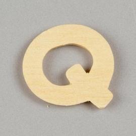 006887/1368- 2cm houten letter Q