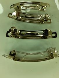 25 x haarclip / haarklem om zelf te versieren 5 cm. staalkleur