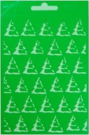JOY6002/0611- Joy! crafts embossing achtergrondstencil template A5 formaat kerstboom