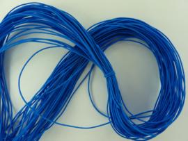ca. 27 meter elastisch koord van 1mm dik blauw