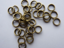 25 x dubbele ringetjes 5mm goudkleur - SUPERLAGE PRIJS!
