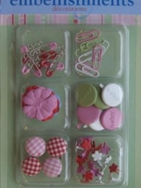 5222- 63 x Sharon Ann little one embellishments decorations
