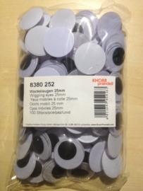 8380 252- 100 stuks beweegbare wiebelogen 25mm plakbaar