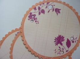 004016- 3 x scrapbook stansvellen 30.5x30.5cm decor rond gestanst OPRUIMING