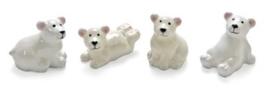 8001 874- 4 stuks decoratie polyresin ijsbeertjes van 3cm