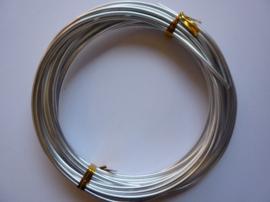 5 meter aluminiumdraad (Wire&Wire draad) van 2.5 mm. dik zilver