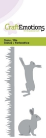 CE115633/0141- Craft Emotions Die 5x10cm konijnen
