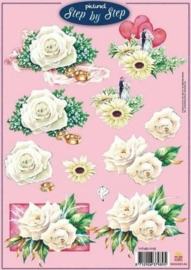 1838- A4 knipvel Picturel 3D stap voor stap huwelijk - 117145/1110