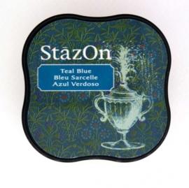 CE132021/4063- Stazon inktkussen midi teal blue SZ-MID-63