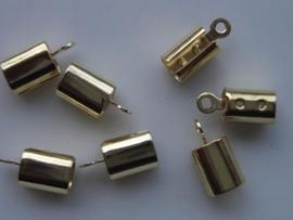 6 x veterklemmen 4,5mm goud 11808/1702