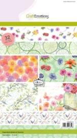 CE118040/0107- 32 vel Craft Emotions paper botanical summer A5