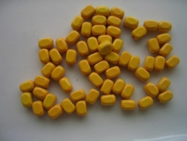 houten kralen rechthoekig geel