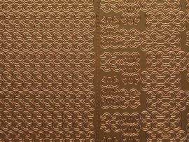 613- randje 1cm breed met hoekjes koper 10x20cm