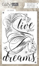 CE130630/1030- Coosa Crafts clearstamp A6 - live dreams