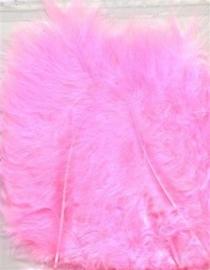 CE800804/2806- 15 stuks Marabou veren zuurstok roze van 7 tot 14cm