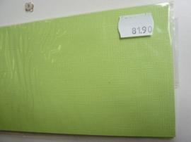 8190- 10 x langwerpige kaarten van Colorcore 9.7x31.5cm fel l.groen SPECIALE AANBIEDING