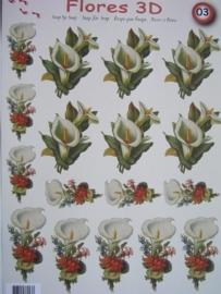 kn/545- A4 knipvel AANBIEDING foli art no.003 condolatie bloemen