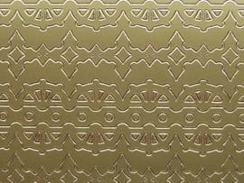 st 701- sticker diverse randjes tot 2cm breed goud 10x20cm