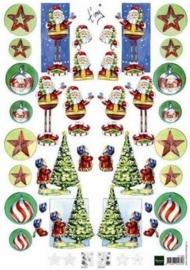 kn/1526- A4 knipvel Marianne D Shake it kerstman - 117140/0506