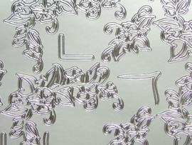 st737- stickervel met diverse hoekjes zilver 10x20cm